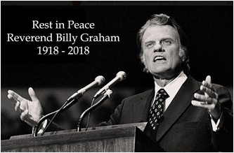 Rest in Peace Dr Billy Graham
