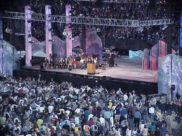 Michael W Smith at the Billy Graham Crusade 2000 Photo